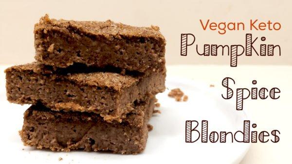 Vegan Keto Pumpkin Spice Blondies (paleo, gluten free, nut free)