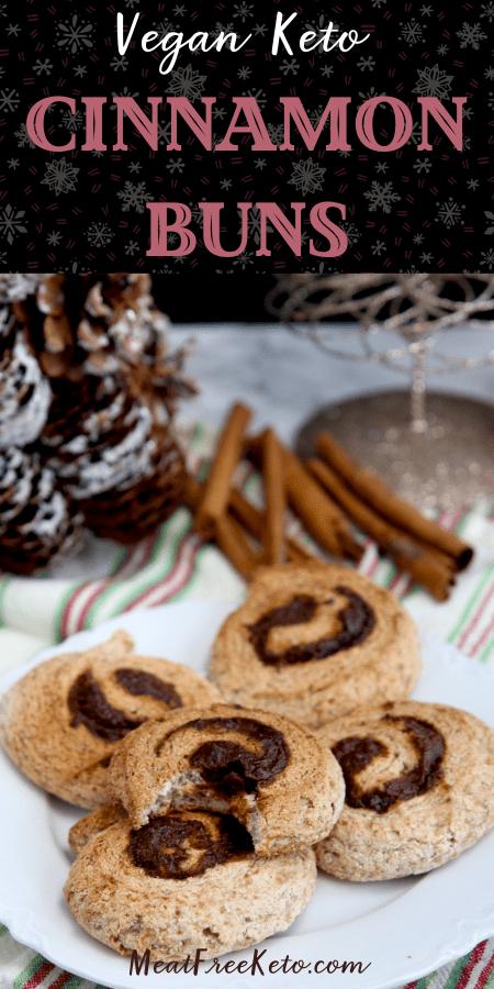 Vegan Keto Cinnamon Buns | MeatFreeKeto.com