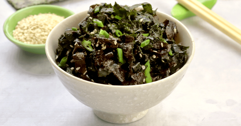 Super Easy Vegan Keto Nori Seaweed Salad