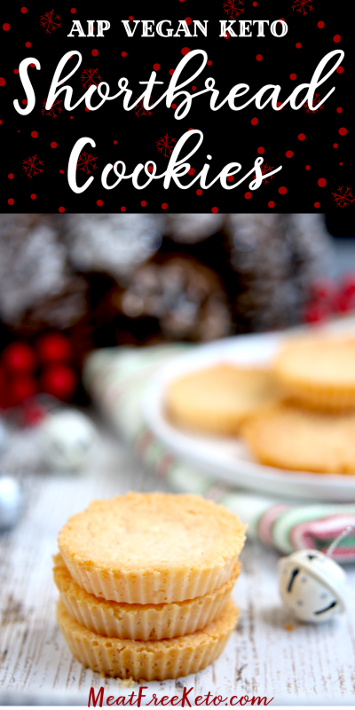 AIP Vegan Keto Shortbread Cookies | MeatFreeKeto.com - A classic holiday treat, that is dairy-free, gluten-free, nut-free, soy-free and AIP compliant.