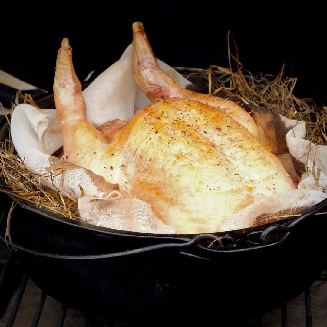 Hay Roast Chicken