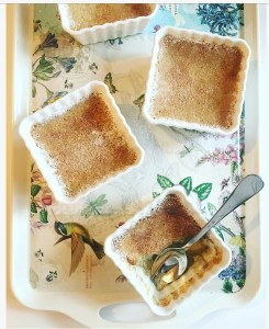 Dairy-free maple cinnamon custard