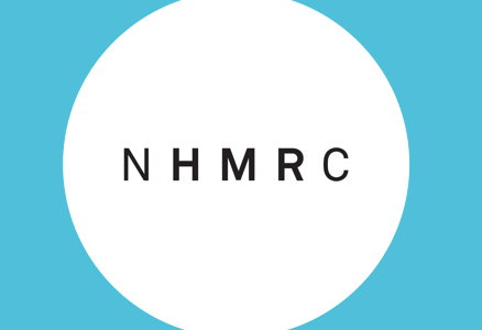 NHMRC blue and white logo