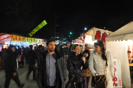 Walking around the Setsubun Festival