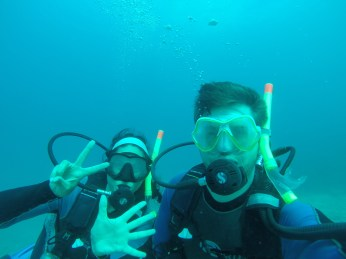 Celebrating 7 years together under water