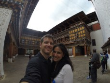 Inside the Dzong courtyard