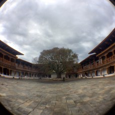 The main courtyard