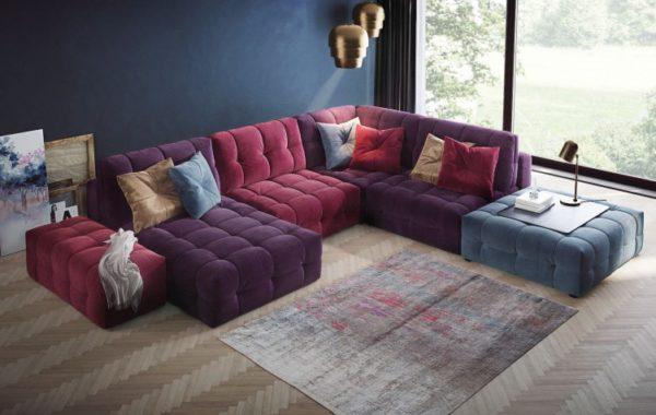 Угловой модульный диван модель