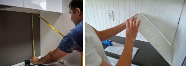 Instalarea șorțului din panouri din plastic