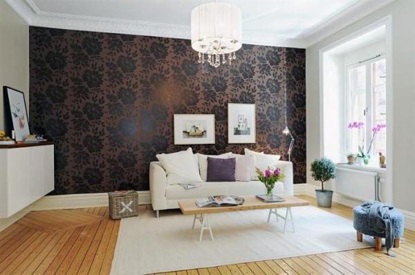 Комбинирование обоев в спальне-гостиной » Картинки и ...