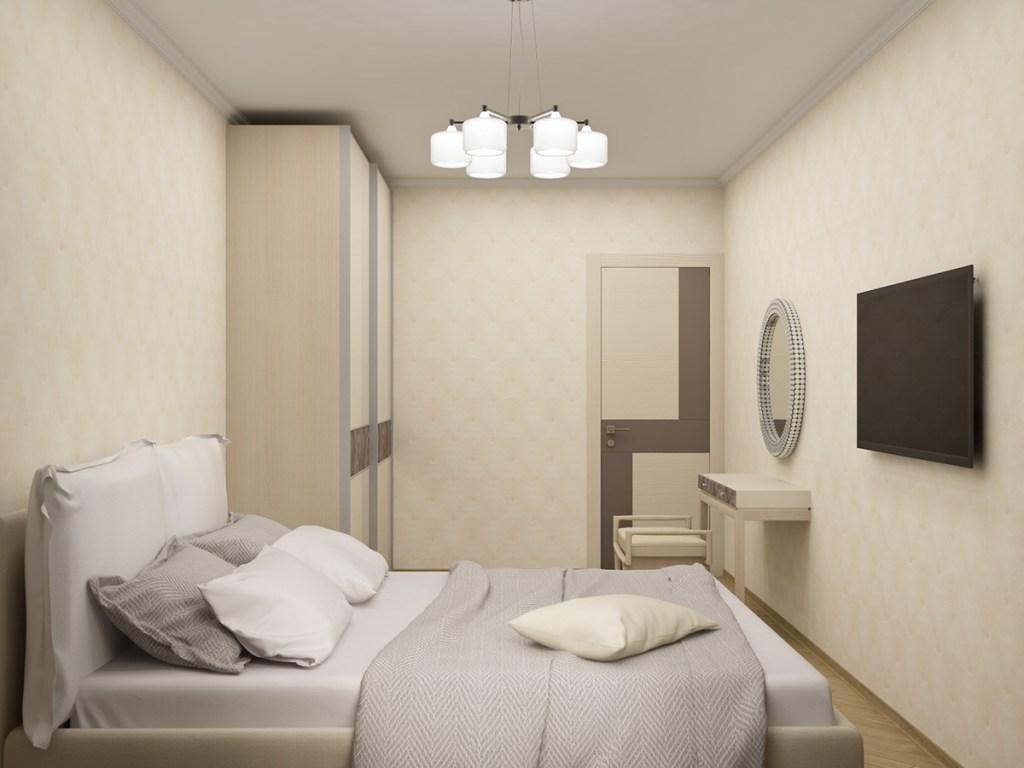 Спальня 01 в теплых тонах