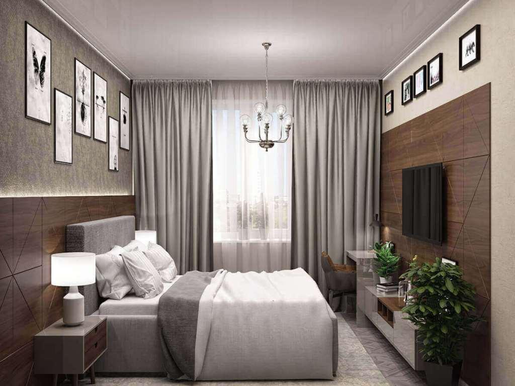 спальня в американском стиле изобилует шпоном ореха и эмалью глянец