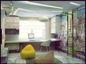 детская комната для мальчика в стиле поп арт