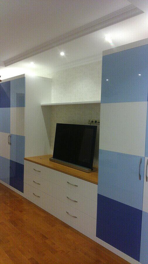 фотография детской мебели в синих тонах 6