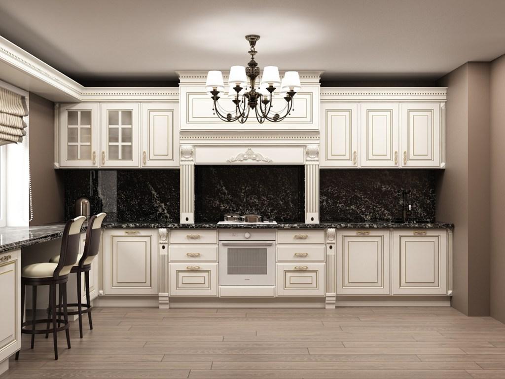 Кухня 12 светлая классика