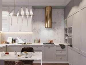 светлая кухня в стиле современная классика