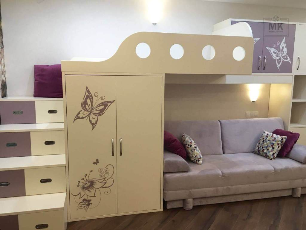 детская мебель с двухэтажной кроватью