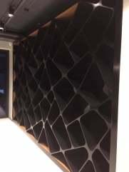 Дизайнерский стелаж из акрилового черного камня фото1