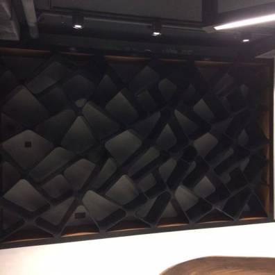 Дизайнерский стелаж из акрилового черного камня фото2