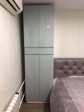 распашной шкаф в спальню, эмаль глянец