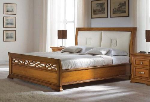Кровать 120*200 кожа
