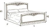 Кровать 120х200 CURVO FREGGIO