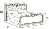 Кровать 160х200 CURVO FREGGIO CAPITONNE Эко-кожа Nabuk4267