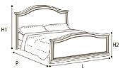 Кровать 90х200 GENDARME