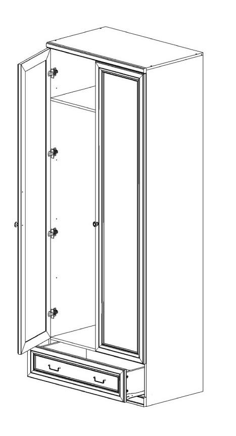 Шкаф 2-х дв. с ящиком