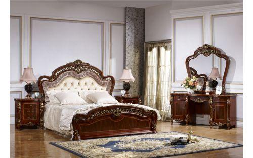 Спальня РОМЕО ROMEO 3288, с 5-дверным шкафом, орех с золотом