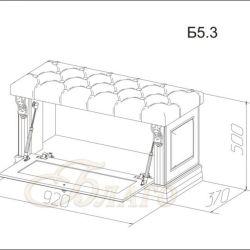 Банкетка-обувница с дверкой Б5.3 Карамель