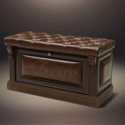 Банкетка-обувница с дверкой Б5.3 Орех/Коричневый