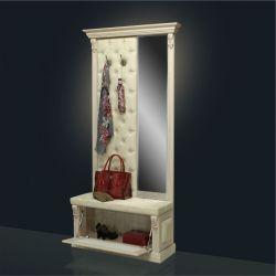 Вешалка с обувницей и зеркалом Б5.8-4 Карамель