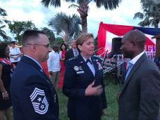 Chief Hutchison, 4 Star General Lori Robinson and Dr. Magnus Ekedede