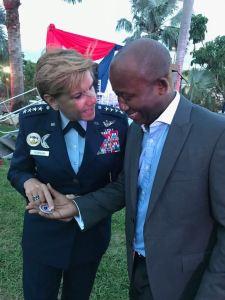 4 Star General Lori Robinson and Dr. Magnus Ekedede