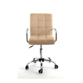 Кресло Мастера AUGUSTO с подлокотниками (BEIGE B-1005 velvet / Хром)