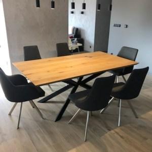stół dębowy samidare 160x80