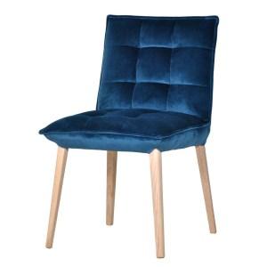 granatowe krzesło welurowe vista