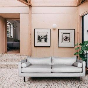sofa tapicerowana szara hampton
