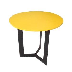 stolik kawowy okrągły żółty