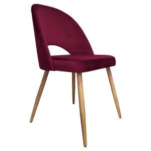 krzesło do jadalni bordowe omara