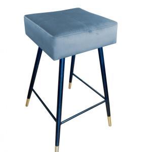krzesło hokerowe niebieskie lana