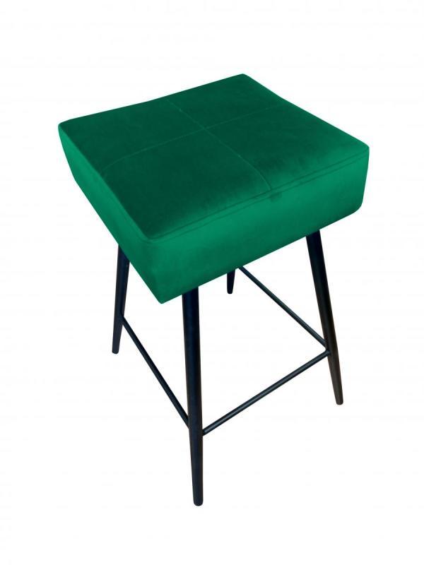 krzesło hokerowe zielone lana