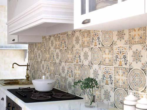 Кухонная плитка в стиле ретро