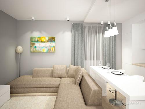 Квартира в оттенках серого