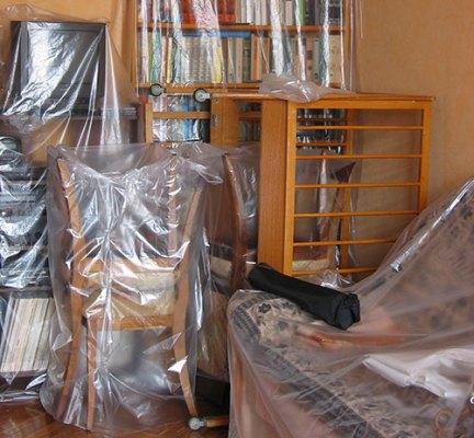 Укройте мебель перед ремонтом