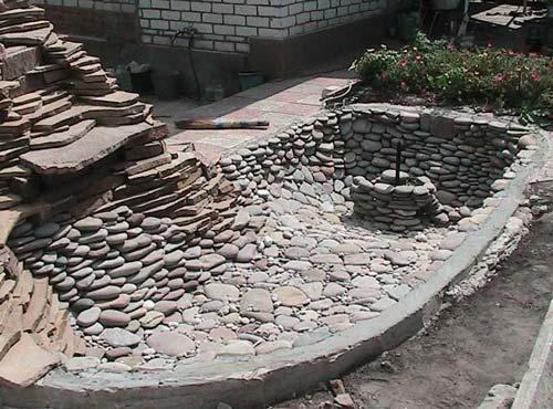Стенки и дно ямы для водоема должны быть хорошо укреплены