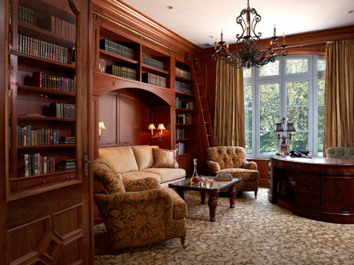 Шкаф для книг - важная часть гостиной
