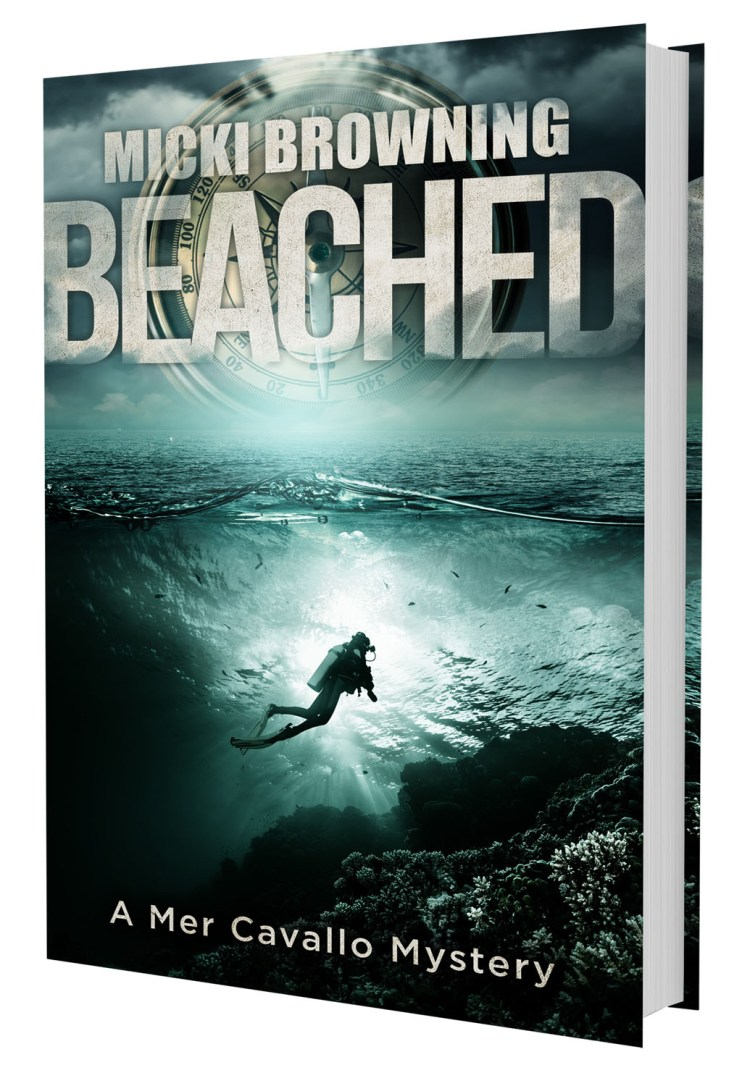 A book image of BEACHED, the 2nd Mer Cavallo Mystery