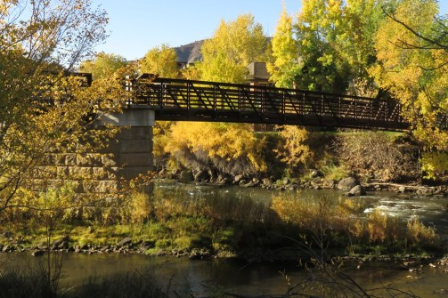 Footbridge over the Animas River in Durango, CO. Image by DL Bender